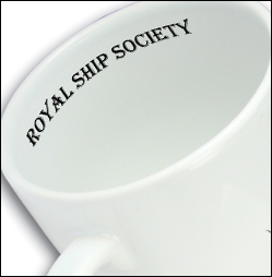Image showing the inside rim of a promotional mug printed with a logo